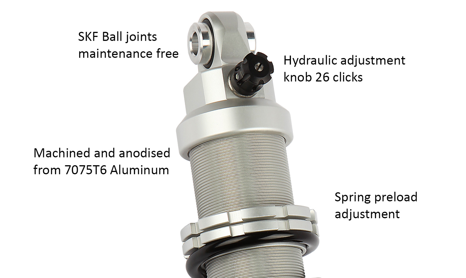 Details - Twin Alu shock absorber